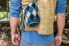 Wayuu Small Knitted Mochila Bag White Squeakers