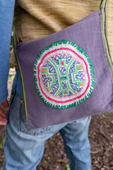 Peruvian Shipibo  Embroidery Bag - Icaro Patch