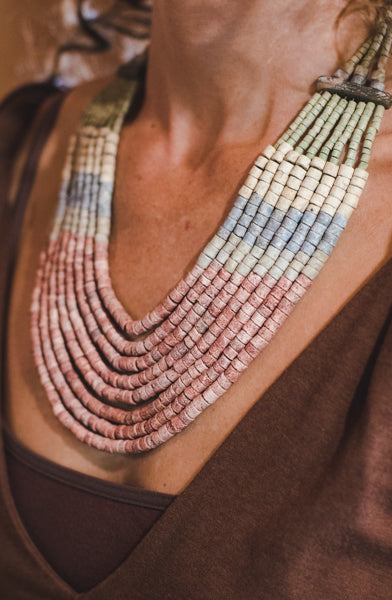 8 Strips - Clay Beads Necklace - Wild Matter Arts