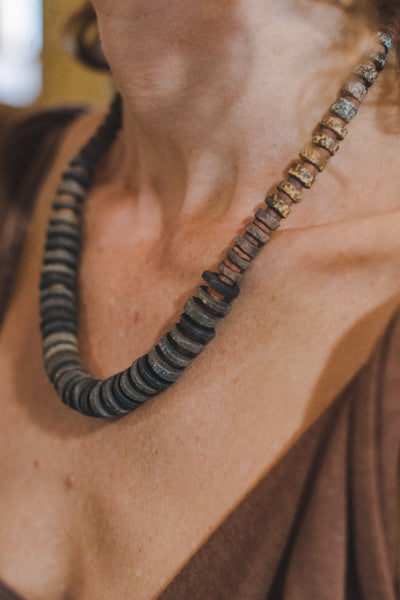 Colombian Clay Beads Necklace - Wild Matter Arts