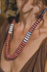 1 wide strip - Clay Beads Necklace - Wild Matter Arts