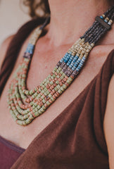 6 Strips - Clay Beads Necklace - Wild Matter Arts