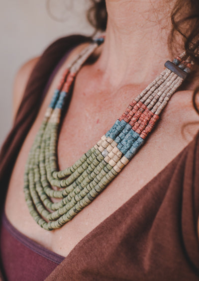 6 strips - Clay BeadsNecklace - Wild Matter Arts