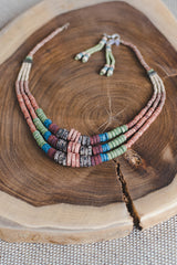 Dark Earth Expanding Strips - Clay Beads Necklace - Wild Matter Arts