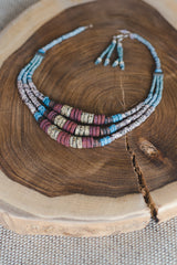 Bright Green Expanding Strips - Clay Beads Necklace - Wild Matter Arts