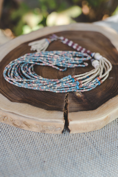 10 long strips - Clay Beads Necklace - Wild Matter Arts