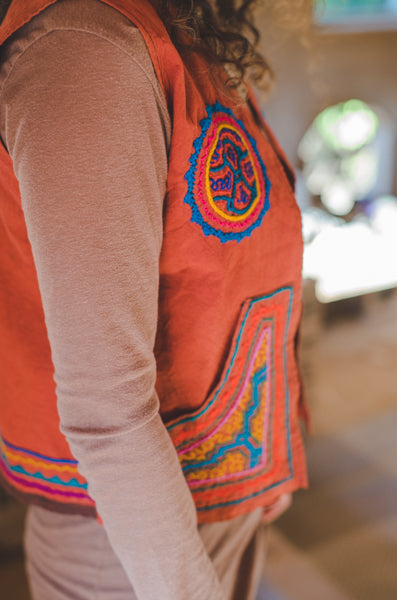 Shipibo Embroidery Women Vest