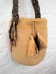 Wayuu Bag Knitted Bag, Hand Made 10L - Wild Matter Arts