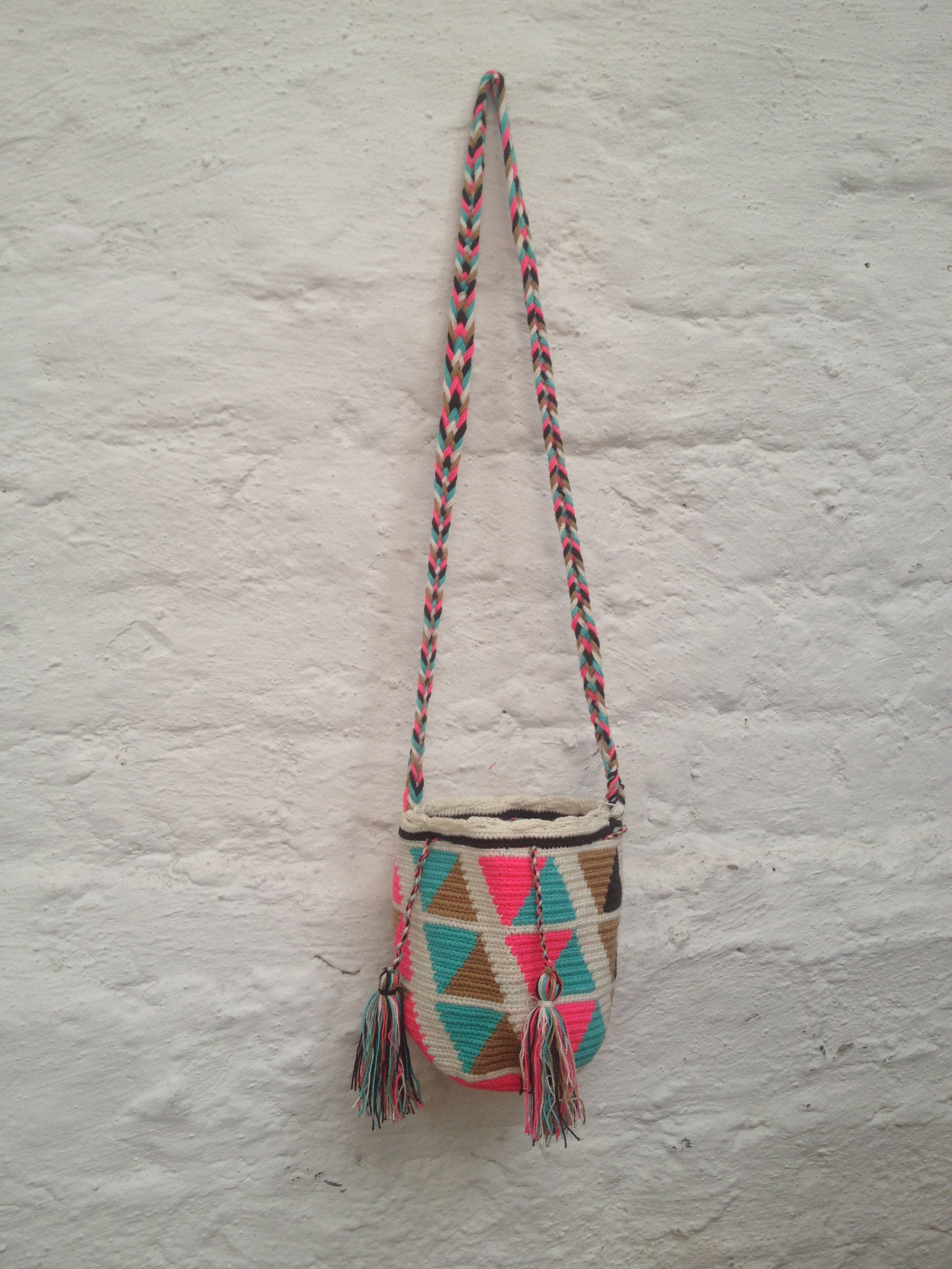 Wayuu Bag Knitted Bag Hand Made 2.5L
