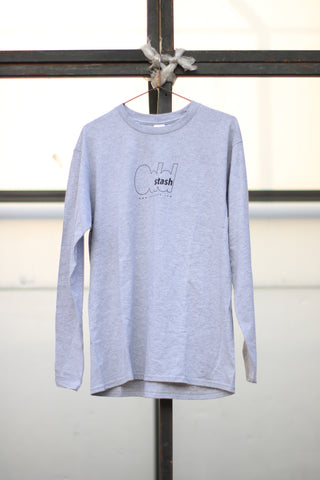 ODDSTASH LONG SLEEVE T-SHIRT - GREY