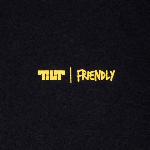 TILT X FRIENDLY TEE - BLACK