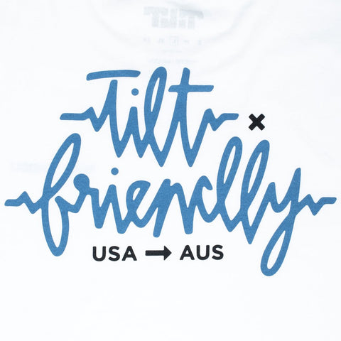 TILT X FRIENDLY TEE - WHITE