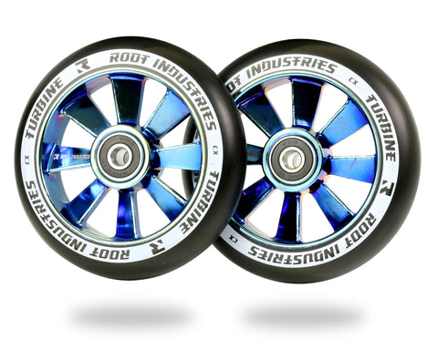 ROOT TURBINE WHEELS 110MM - BLACK/BLUE RAY