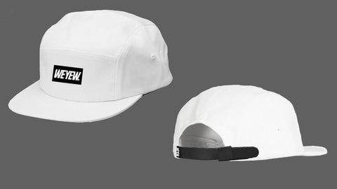 WEYEW 5 PANEL CAP - WHITE