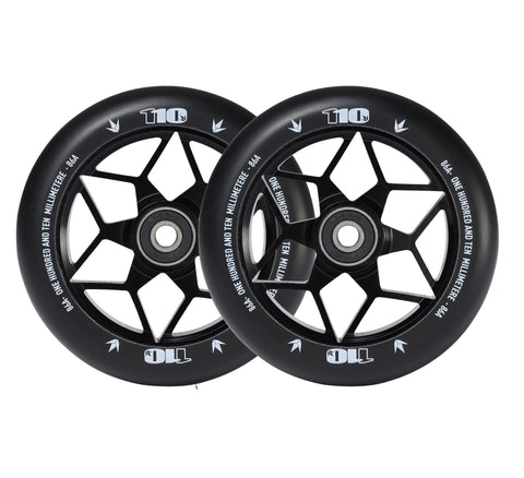 ENVY WHEELS DIAMOND 110mm - BLACK (PAIR)