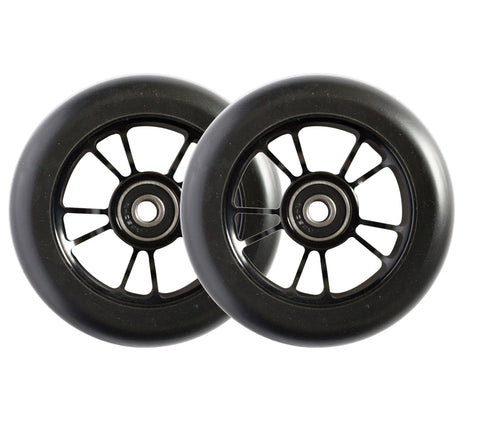 ENVY WHEELS 100mm - BLACK/BLACK (PAIR)
