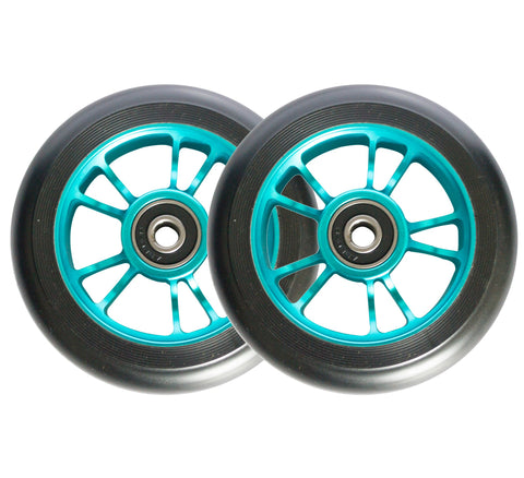 ENVY WHEELS 100mm - TEAL/BLACK (PAIR)