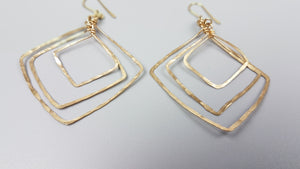Triple Nesting Diamond Earrings
