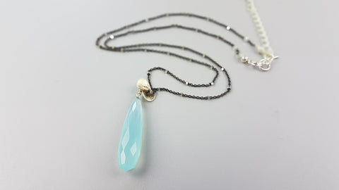 Blue Icicle Necklace