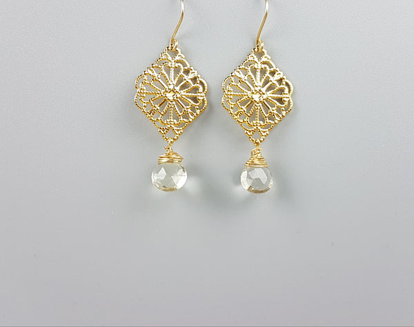 Filigree Diamond Drops