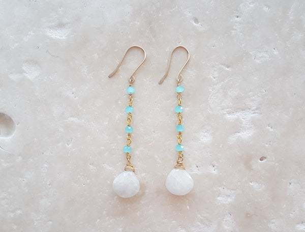 Egyptian Moonstone Drops