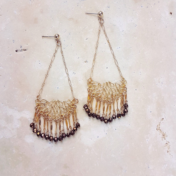Filigree Fringe Earrings