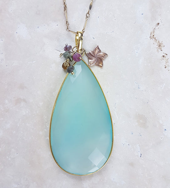 Sea Chalcedony Pendant Necklace