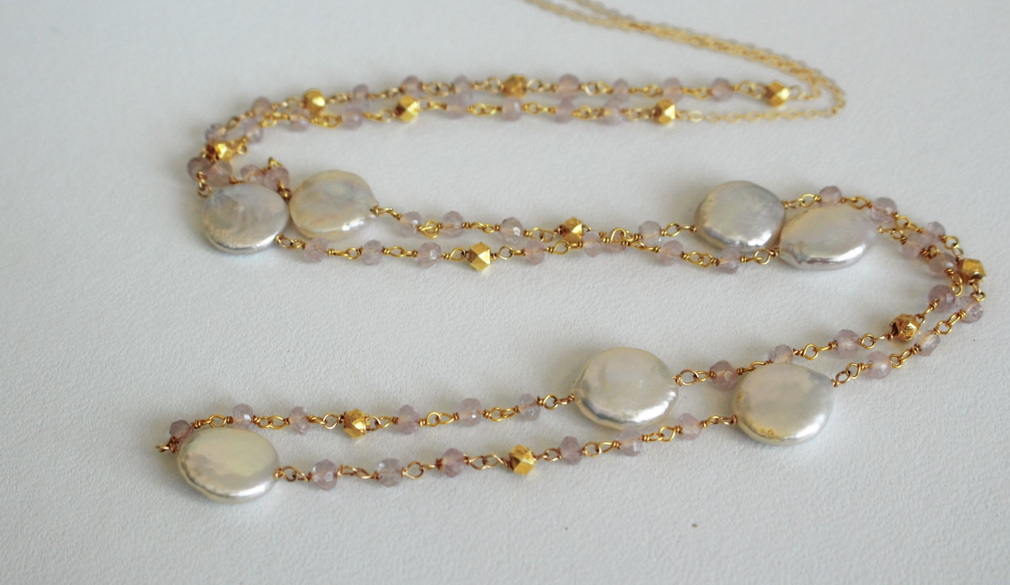 Rose & Pearls Necklace