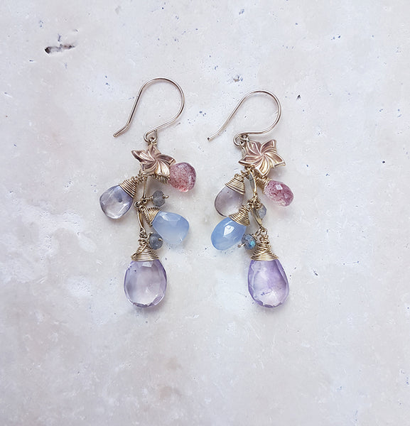 Pink Amethyst Goddess Earrings