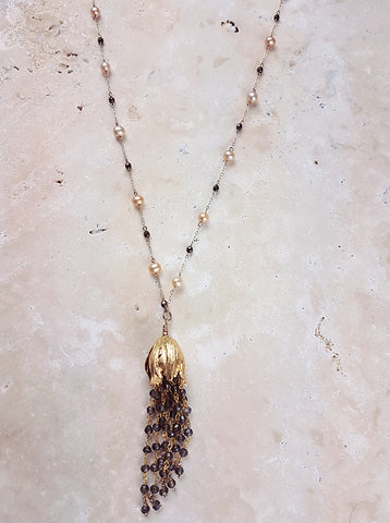 Tulip Tassel Necklace