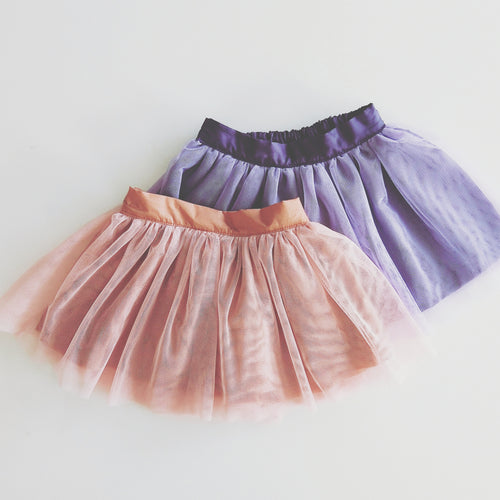 Charlotte Tulle Skirt in Peach