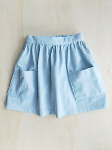 Bella Skirt in Bleached Tencel Denim