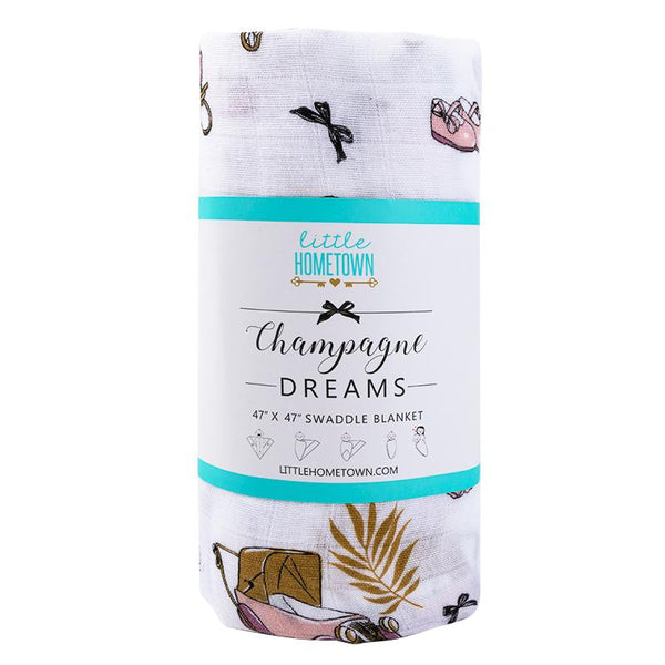 Champagne Dream Swaddle Blanket