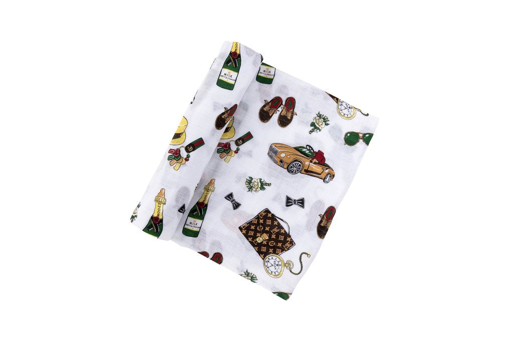Dapper Napper Swaddle Blanket