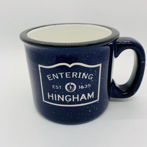Entering Hingham Colbalt Camp Mug
