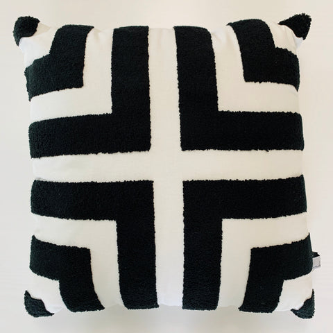 Black & White Terry Loop Pillow