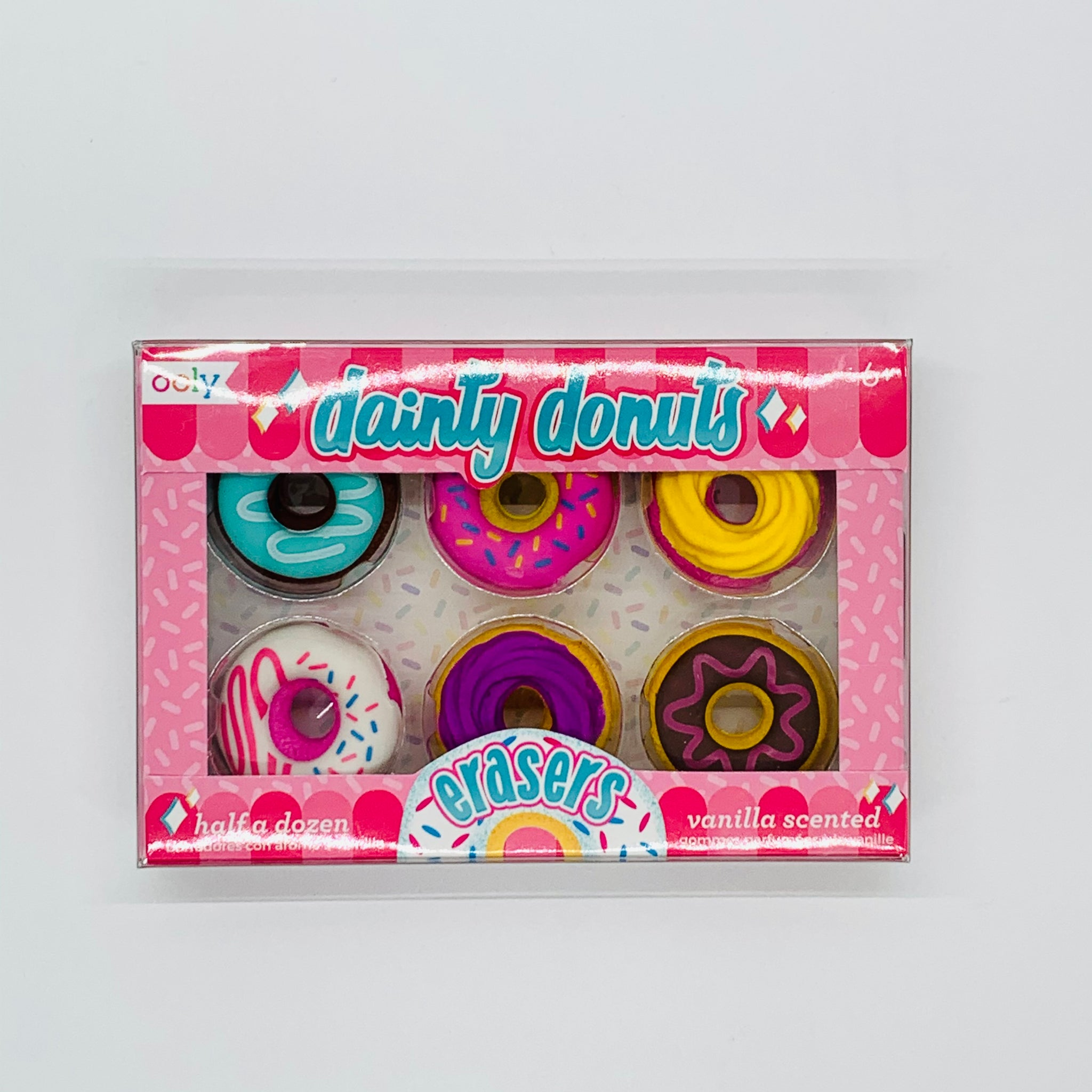 Dainty Donut Scented Eraser (Set of 6)