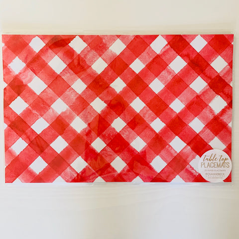 Red & White Plaid Placemats