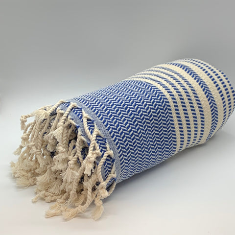 Turkish Towel Hasir Navy