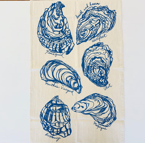 Oyster Tea Towel (Blue-Violet)
