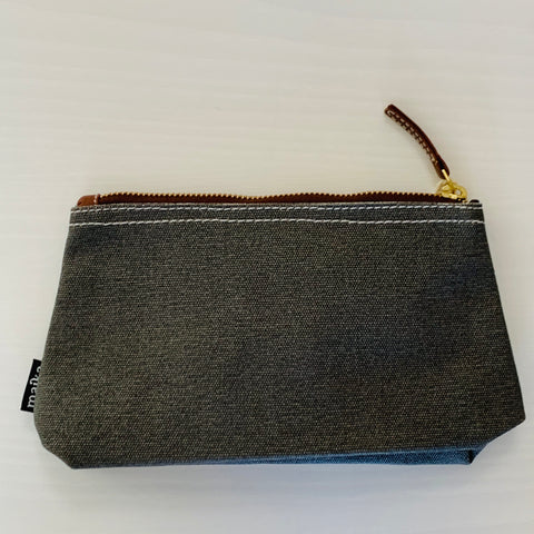 Waxed Ash Canvas Pouch _ Medium
