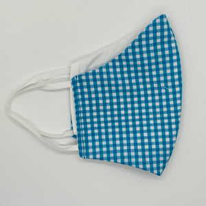 Adult Turquoise Gingham Facemask