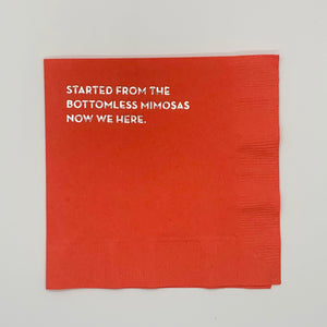 Bottomless Mimosa Cocktail Napkin