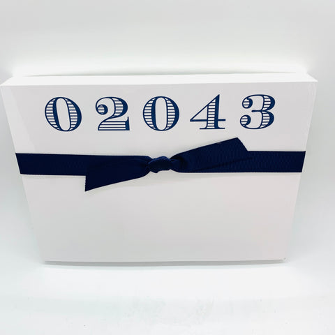 02043 Navy Notepad