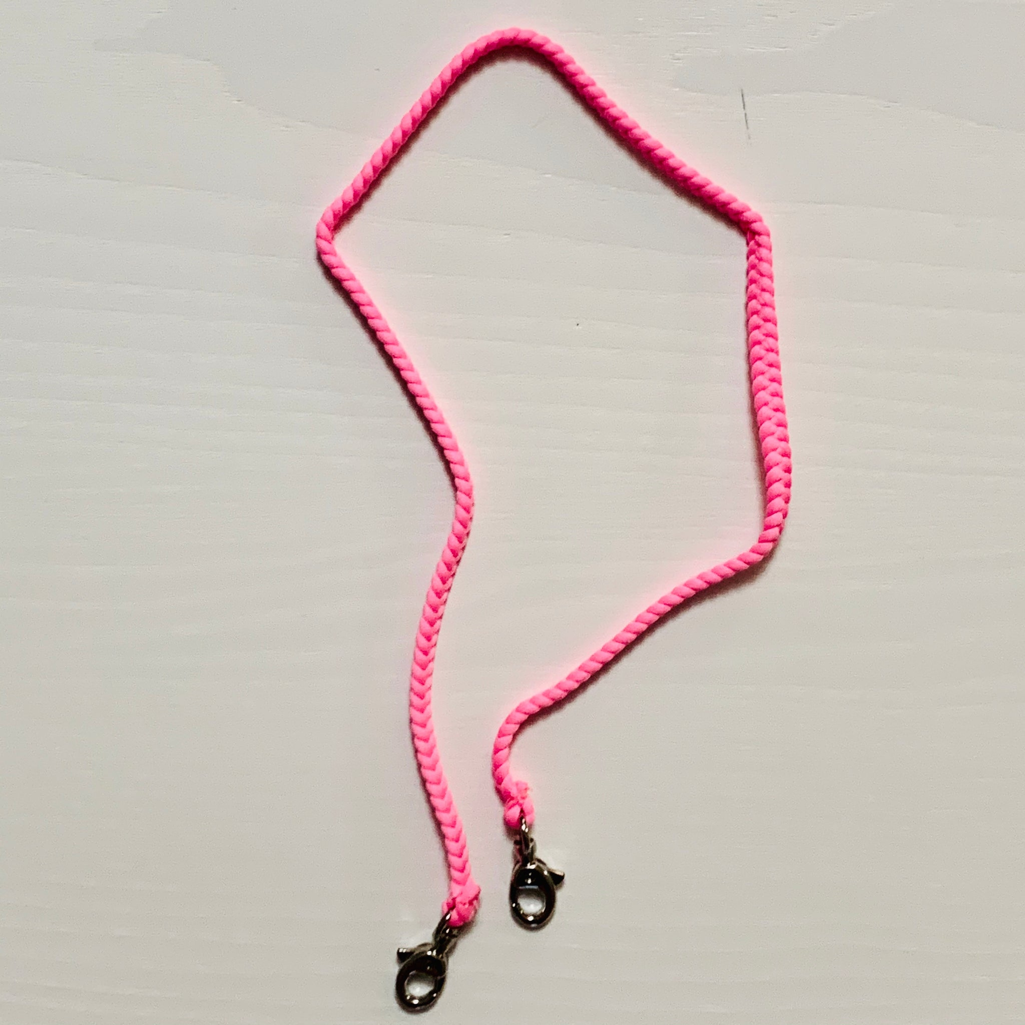 Pink Braided Mask Cord _ Kids