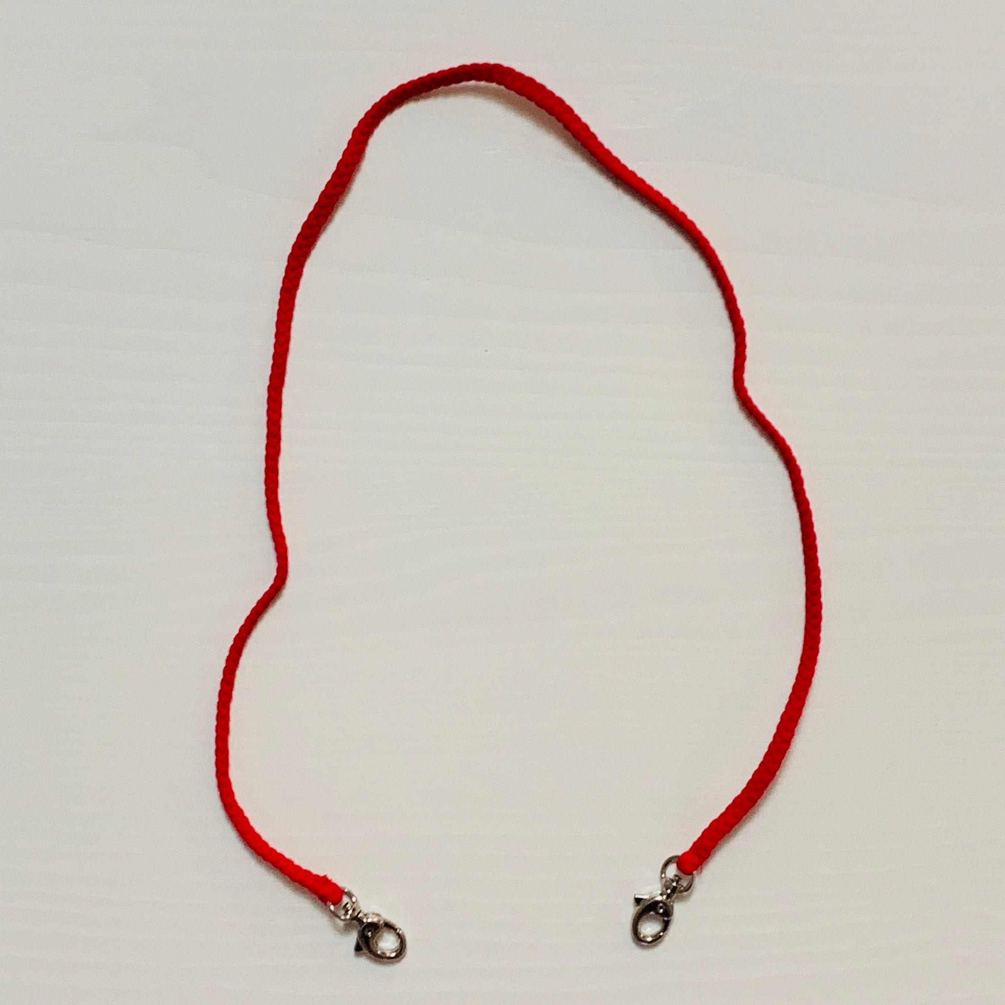 Red Braided Mask Cord _ Adult
