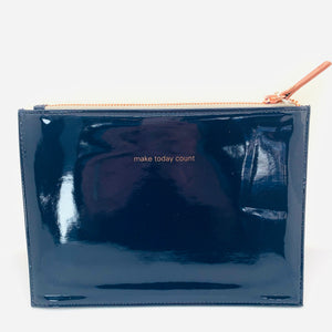 Make Today Count Navy Clutch