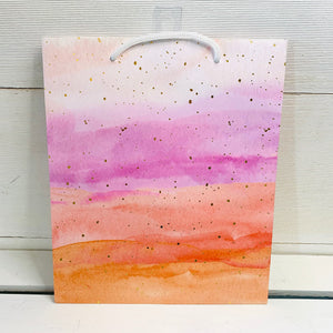 Pink Watercolor Gift Bag