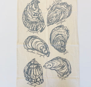 Oyster Tea Towel (Grey)