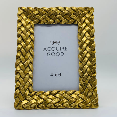 Gold Braid Picture Frame 4x6